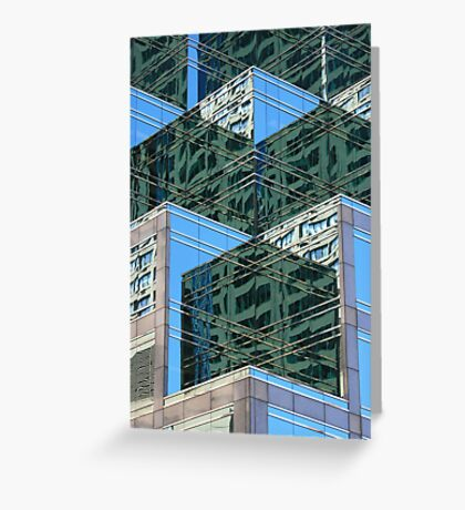 Angled Reflections Greeting Card