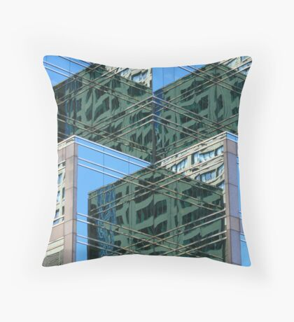 Angled Reflections Throw Pillow