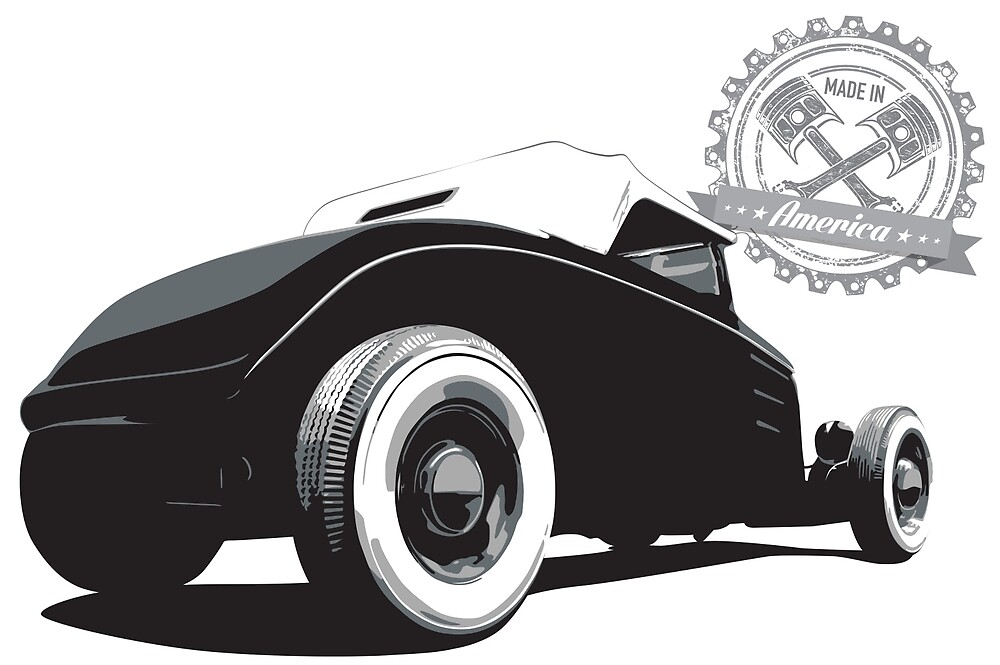 1932 Ford - Rear - Made in America by 6thGear