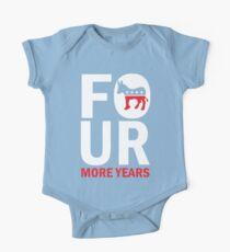 Kids Four More Years Democrat Shirt One Piece - Short Sleeve