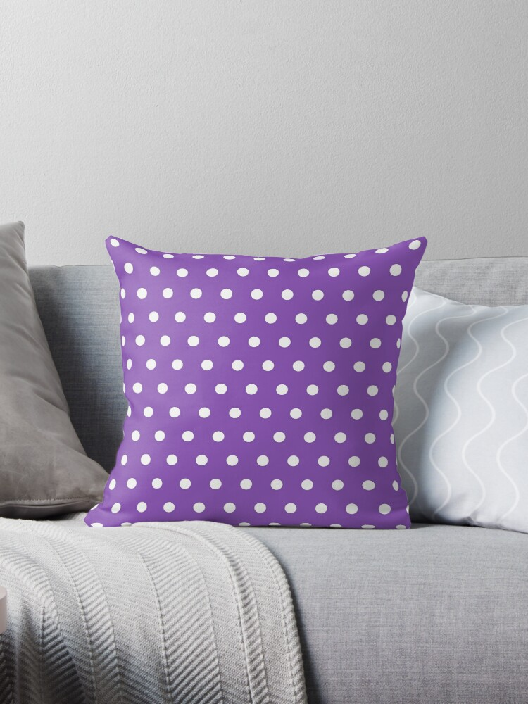 Small White Polka Dots on LightPurple background by ImageNugget