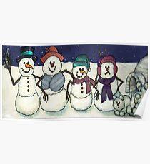 Snowman Family Poster