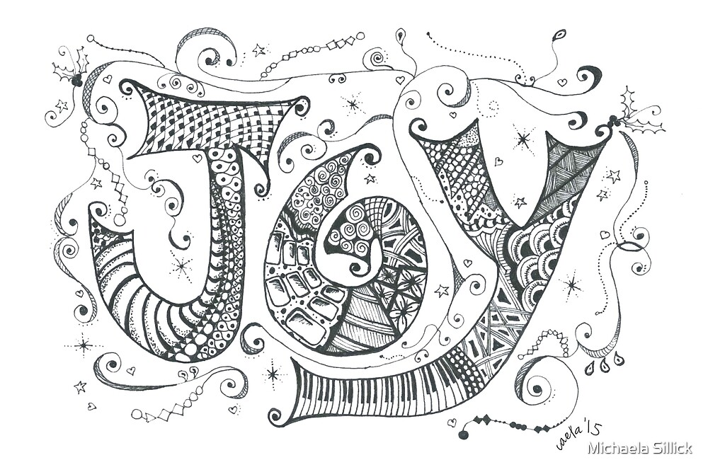 Doddle Art 'JOY' by Michaela Sillick