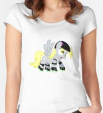 Roller Derpy  Women's Fitted Scoop T-Shirt