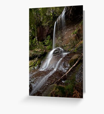 Shower Cave Falls Greeting Card
