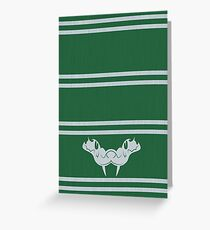 the green scarf Greeting Card
