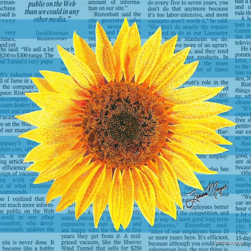 Sunflower Pointillism by larissamoyer
