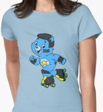 Roller Derby Care Bear (Jammer Bear) Womens Fitted T-Shirt