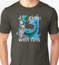I <3 Girls With Fins - Mermaid T-Shirt