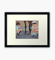 New Shoe Review - Children and Horses Framed Print