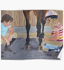New Shoe Review - Children and Horses Poster