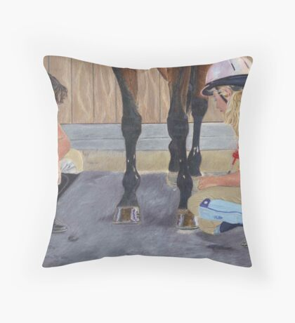 New Shoe Review - Children and Horses Throw Pillow