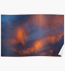 Awesome sunset orange light Poster
