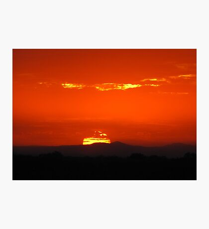 Monsoon Sunset Photographic Print
