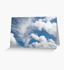White cirrus and cumulus clouds Greeting Card