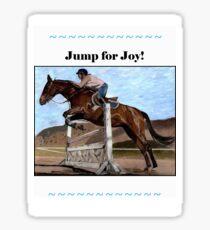 Jump for Joy!  Horse Jumper t-shirt Sticker