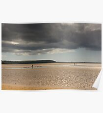 The dichotomy of Irish weather, Duncannon, County Wexford, Ireland Poster