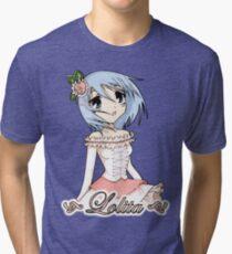Blue Haired Lolita Tri-blend T-Shirt