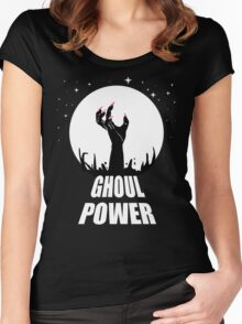GHOUL POWER Women's Fitted Scoop T-Shirt