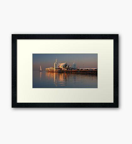 Sunset on Corio Bay Framed Print