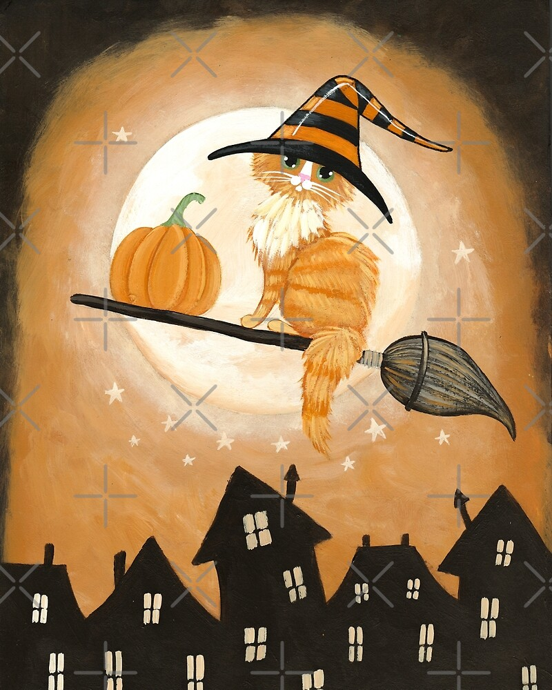 Ginger Cat Pumpkin Delivery by Ryan Conners