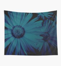 Blue, Blue Daisies Wall Tapestry