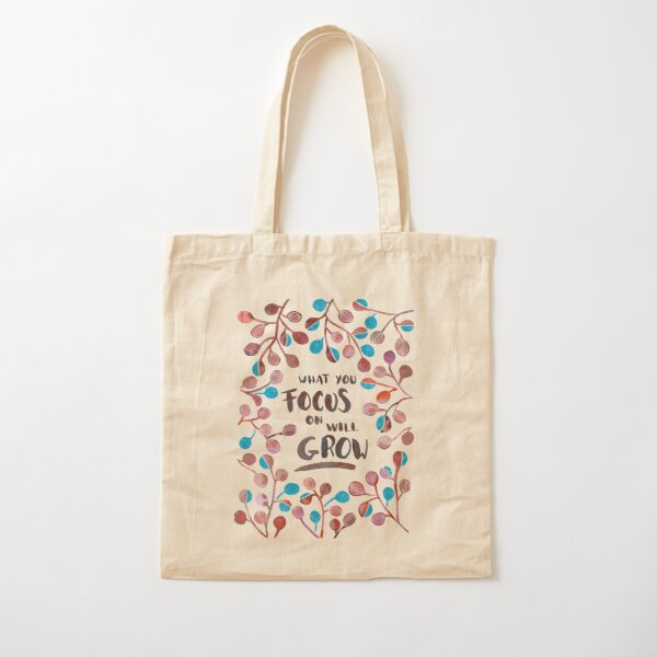 What you focus on will grow Fall Palette Cotton Tote Bag