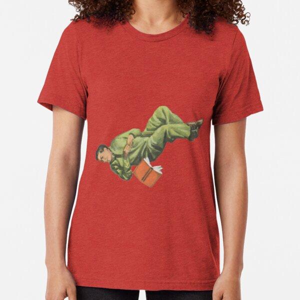 zero gravity green astronaught Tri-blend T-Shirt
