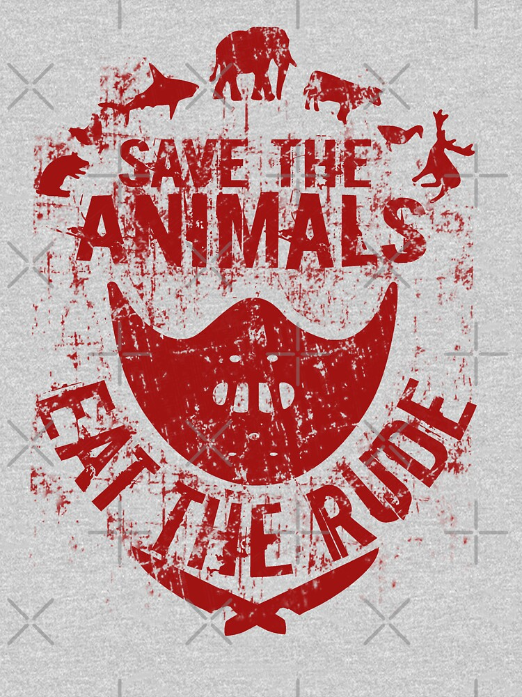 save the animals, eat the rude (red) by FandomizedRose