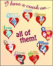 I have a crush on... all of them! - Poster, part 2 by Stinkehund