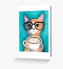 Kitten's Latte of Love Greeting Card