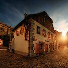 Sunrise in Cesky Krumlov by Stevacek