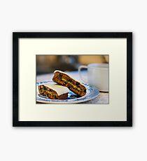simnel cake.. Framed Print