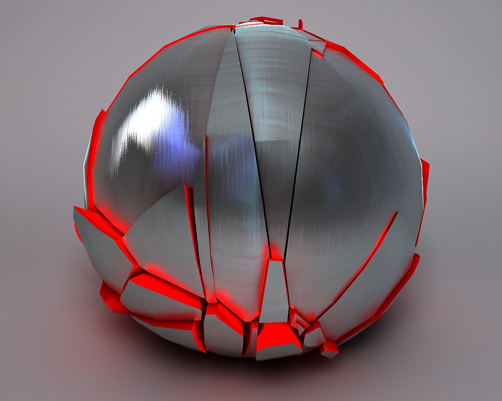 Silver Globe with Red Interior 1 by mo0kid