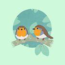 European Robins by knitetgantt