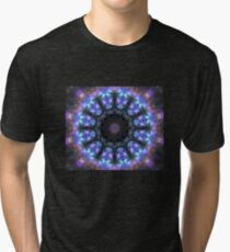 The Dark Forest I - Blue, Green, Purple Kaleidoscope Tri-blend T-Shirt
