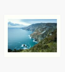 Slieve League sea cliffs in Co. Donegal Art Print