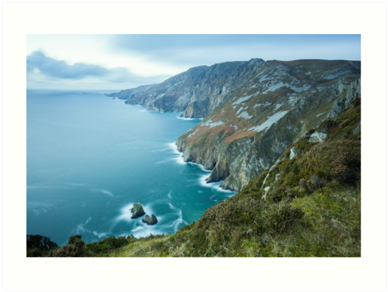 Slieve League sea cliffs in Co. Donegal by Marie Carr