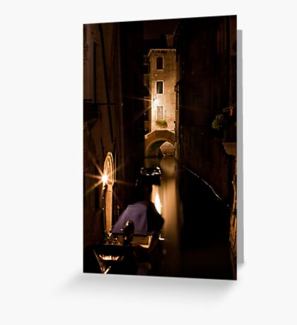 Softly Lit Canal Greeting Card