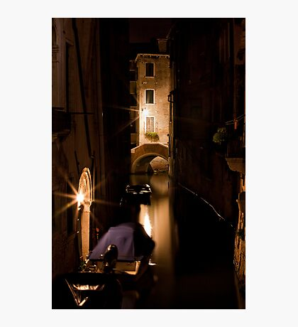 Softly Lit Canal Photographic Print