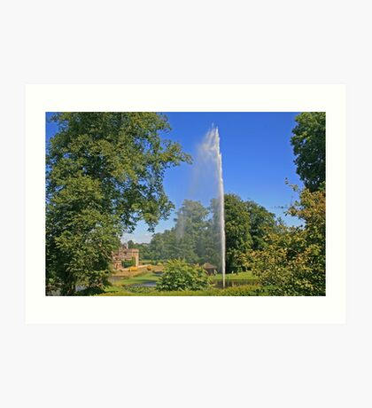 Centenary Fountain, Forde Abbey Art Print