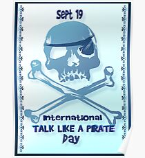 Talk Like A Pirate Crossbones Poster