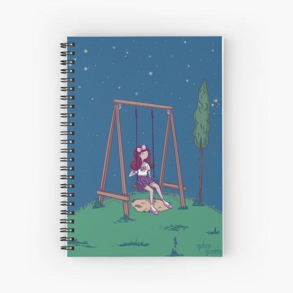 girl swinging Spiral Notebook
