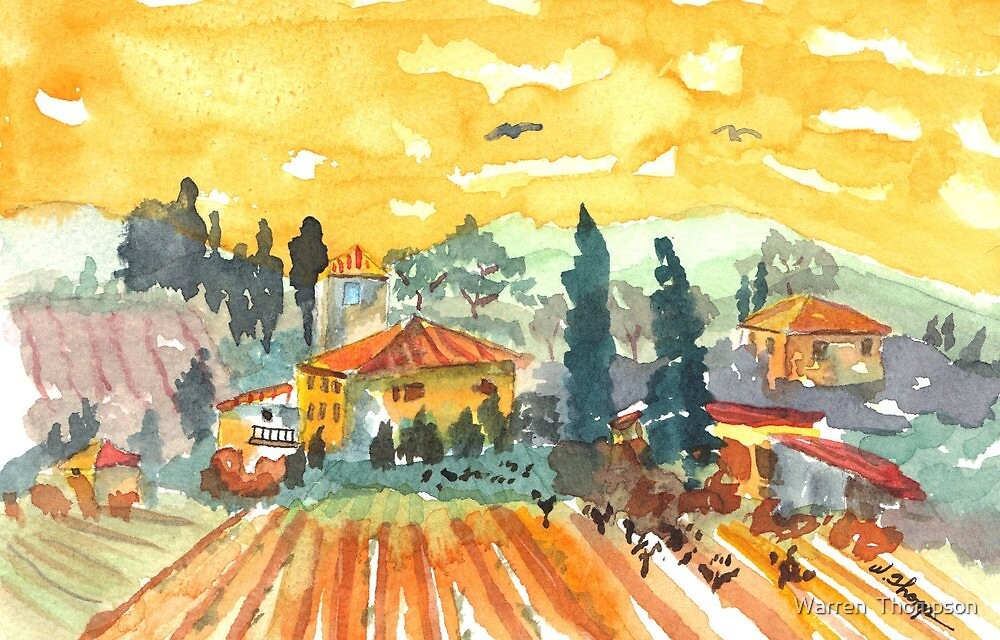 Golden Vineyard by Warren  Thompson