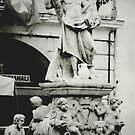 Italian Fountain Amalfi Square Italy by Deb Gibbons