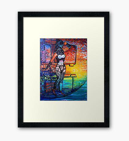 Sojie 13 wip # 3 detail of woman Framed Print