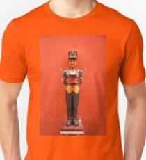 Carved drummer figure Unisex T-Shirt