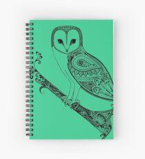 Intricate barn owl Spiral Notebook