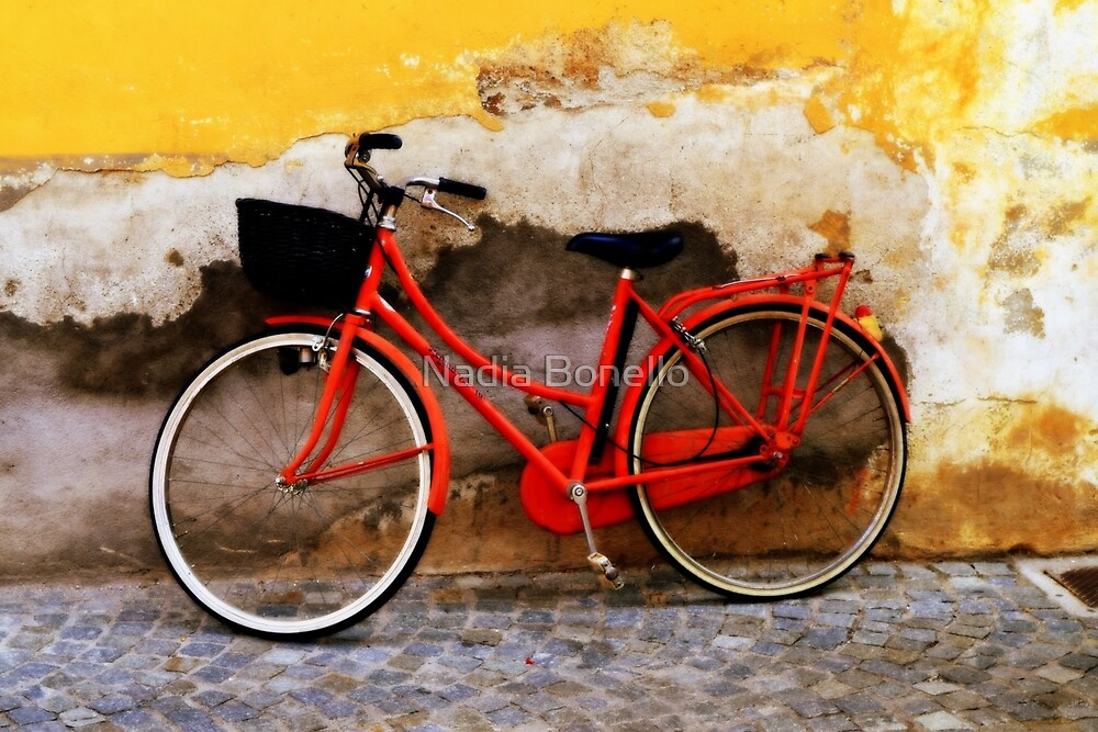 The Red Bicycle | Bicycles by Nadia Bonello