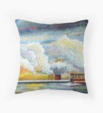 Flooded Train Station (Spirited Away) Throw Pillow